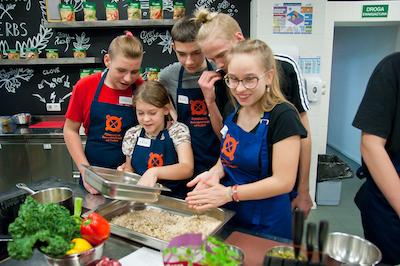 Warsztaty gotowanie młodzież kuchnia
